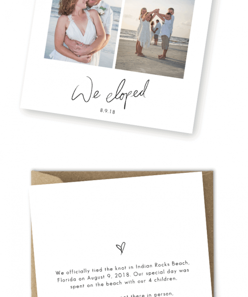 Elopement Announcements Photo Elopement Cards For the Love of Stationery Louis Ramero Cherished Ceremonies