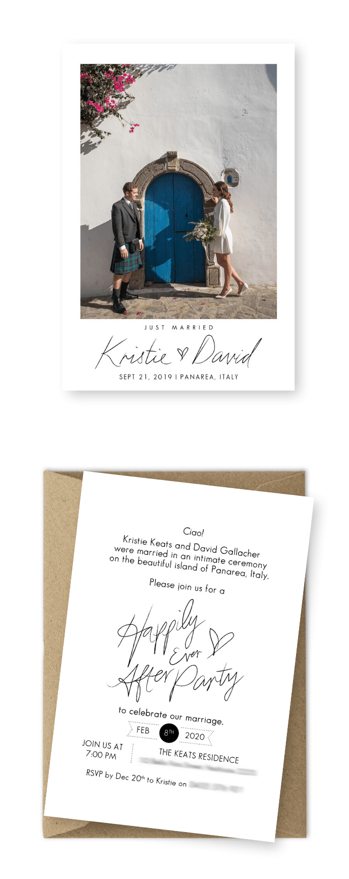 Elopement Cards Destination Wedding Invitation Photos For the Love of Stationery Karen Boscolo Photography