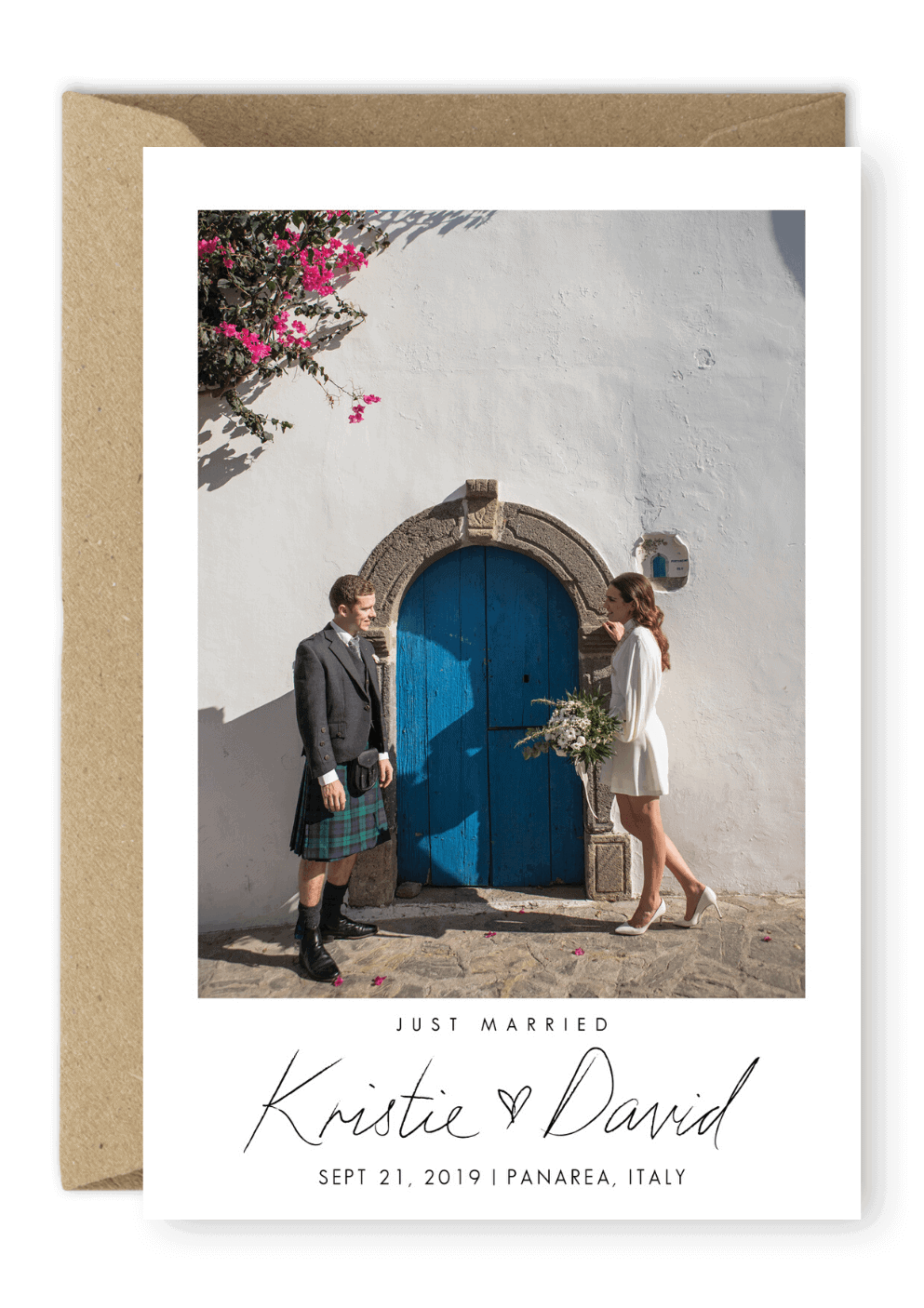 Elopement Cards Photo Wedding Elopement Announcements For the Love of Stationery Karen Boscolo Photography