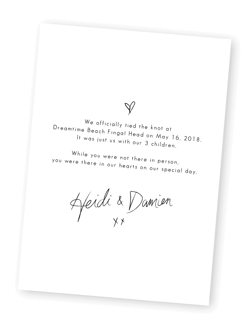 Elopement Cards Surprise Wedding Elopement Announcements For the Love of Stationery