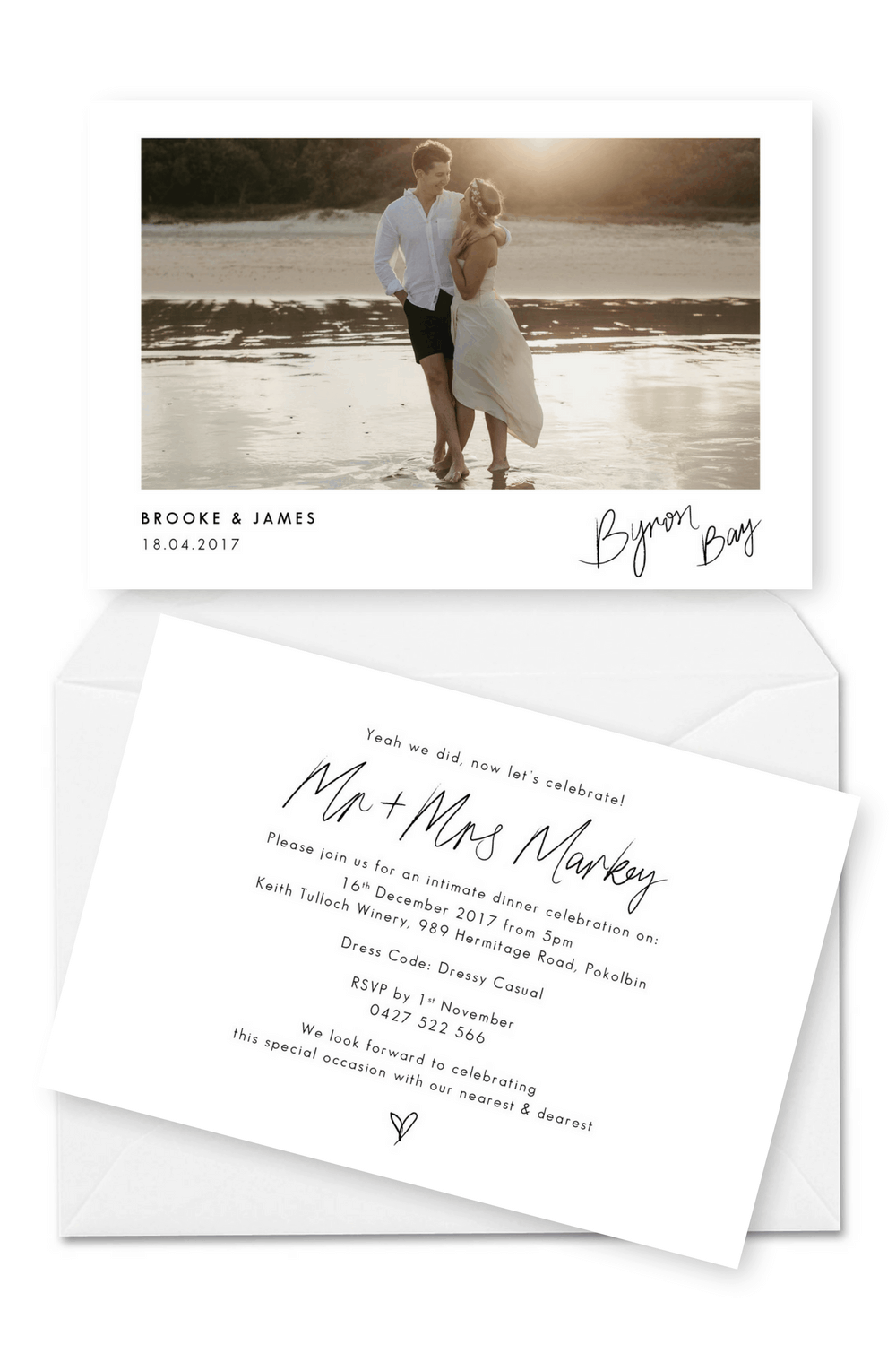 Elopement Invitation Wedding Elopement Announcement