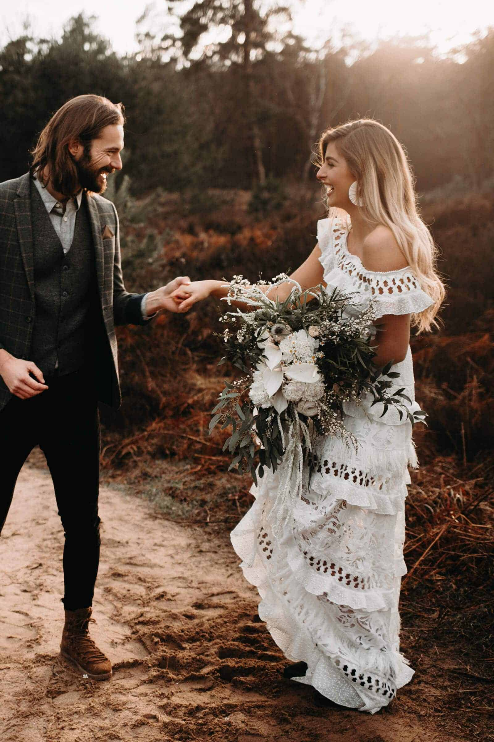 Elopement Wedding Dress Casual Simple Ivory Off The Shoulder Dress Intimate Wedding Dress Romantic Grace Loves Lace Coco (1)
