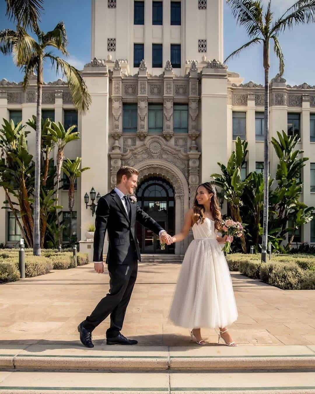 Elopement Wedding Dresses Casual Simple Romantic Beverly Hills Courthouse Melanee Shale Wolfgang (1)