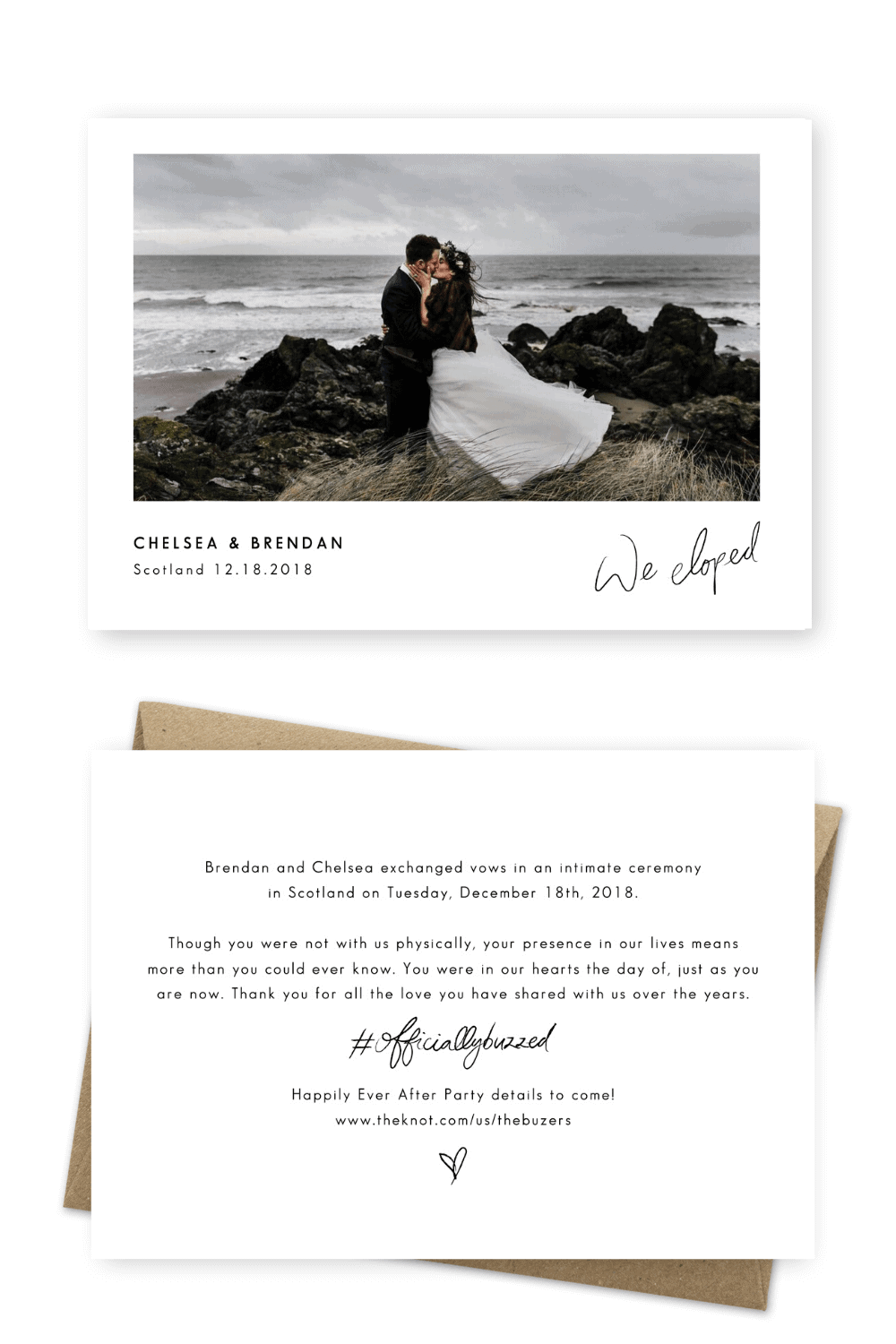 Elopement Wording Ideas Wedding Announcement Examples Epic Love Story Photography For the Love of Stationery (1)