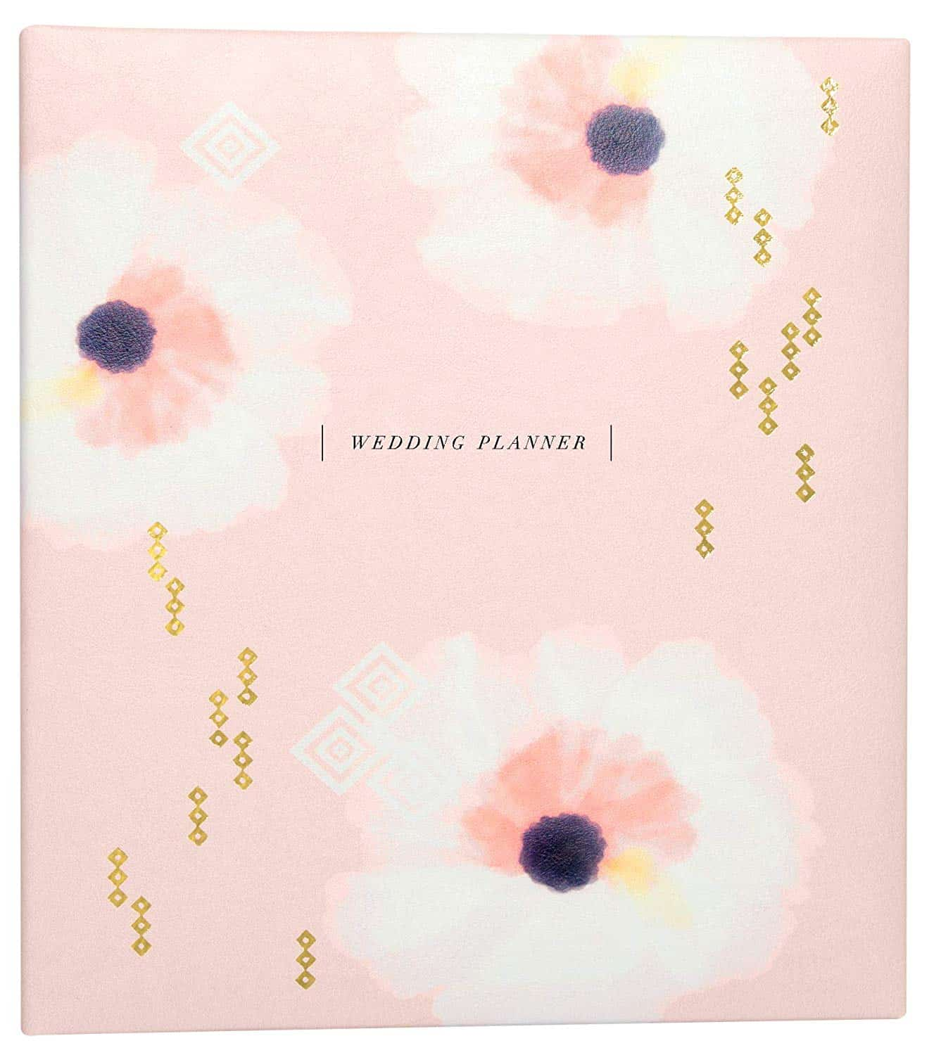 Engagement Gift Bridal Planner Complete Checklist Pink and White Wedding Planner Books and Binder Organizers for Brides