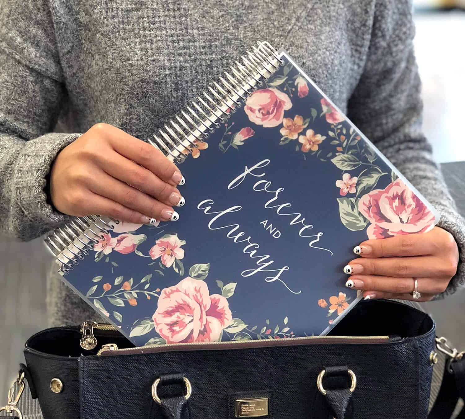 Engagement Gift Bridal Planner Forever and Always Wedding Planner Books and Organizers for Brides