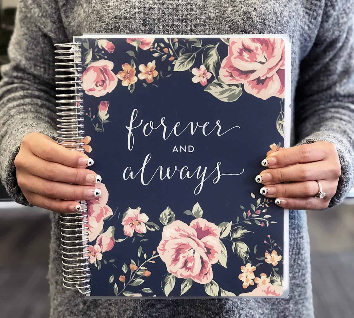 Engagement Gift Bride Planner Forever and Always Wedding Planner Books and Organizers for Brides