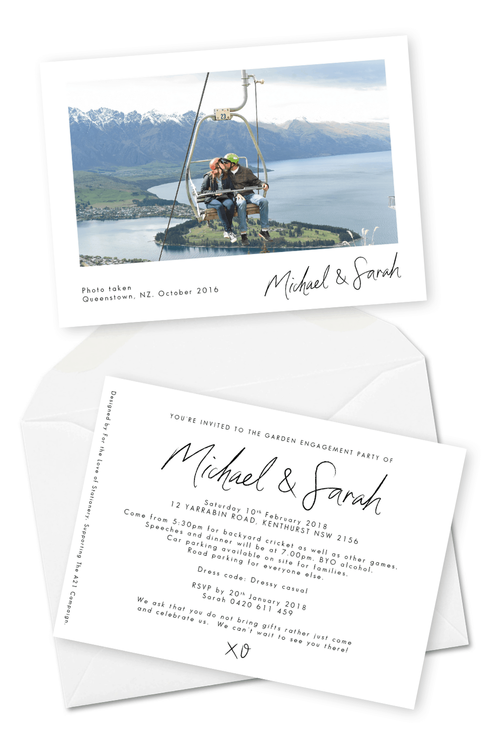 Engagement Party Invitation Photo Wedding Invitation with Photos For the Love of Stationery