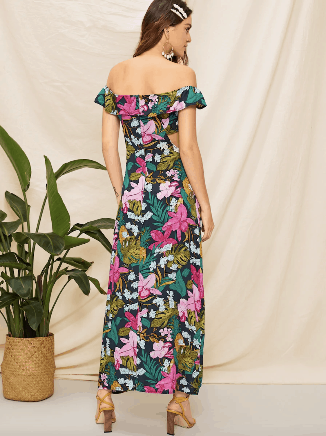 Floral Print Dresses Gorgeous Summer Honeymoon Outfits Shein Off The Shoulder Floral Print Cut Out Dress