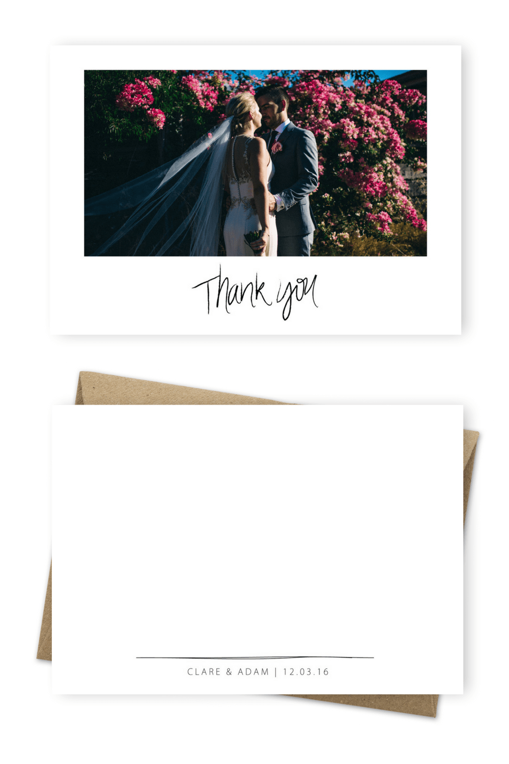 Floral Wedding Thank You Card For the Love of Stationery Courtney Illfield