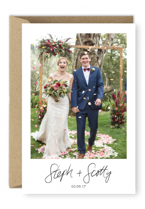 Floral Wedding Thank You Card Peppermint Studios For the Love of Stationery