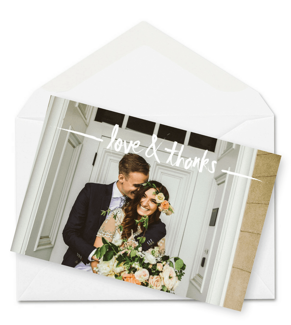 Floral Wedding Thank You Postcard
