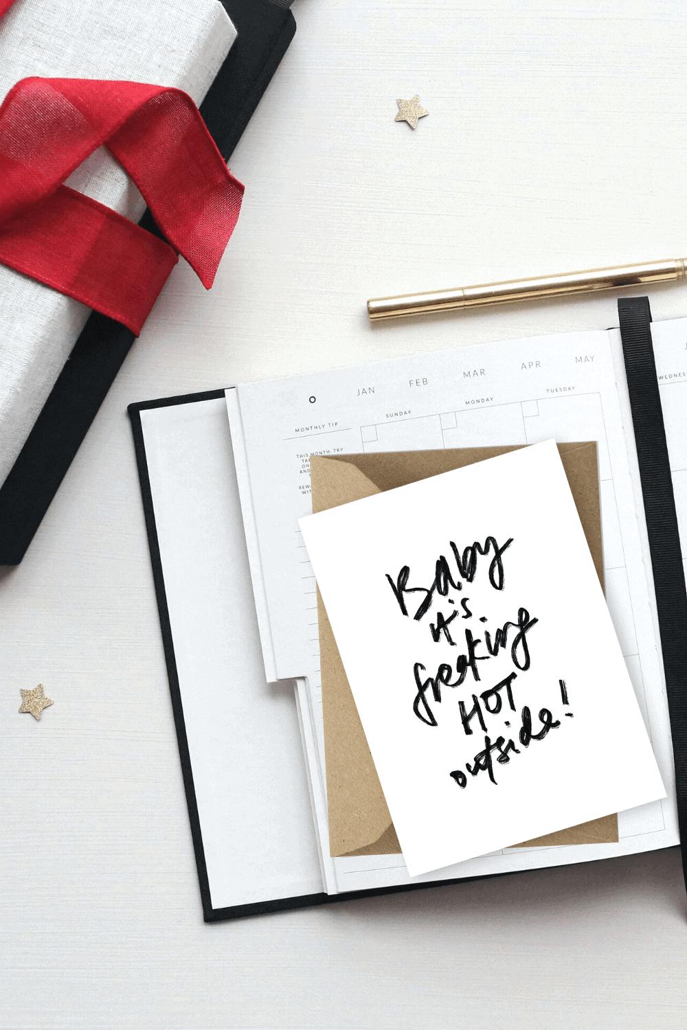 Free Christmas Card Template Printables Baby It's Freaking Hot Outside