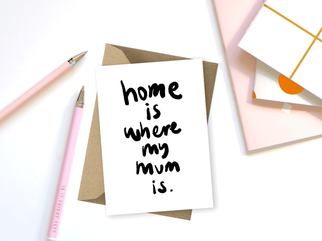 Free Mother's Day Printables Handmade Simple DIY Ideas Home is Where My Mum Is For the Love of Stationery