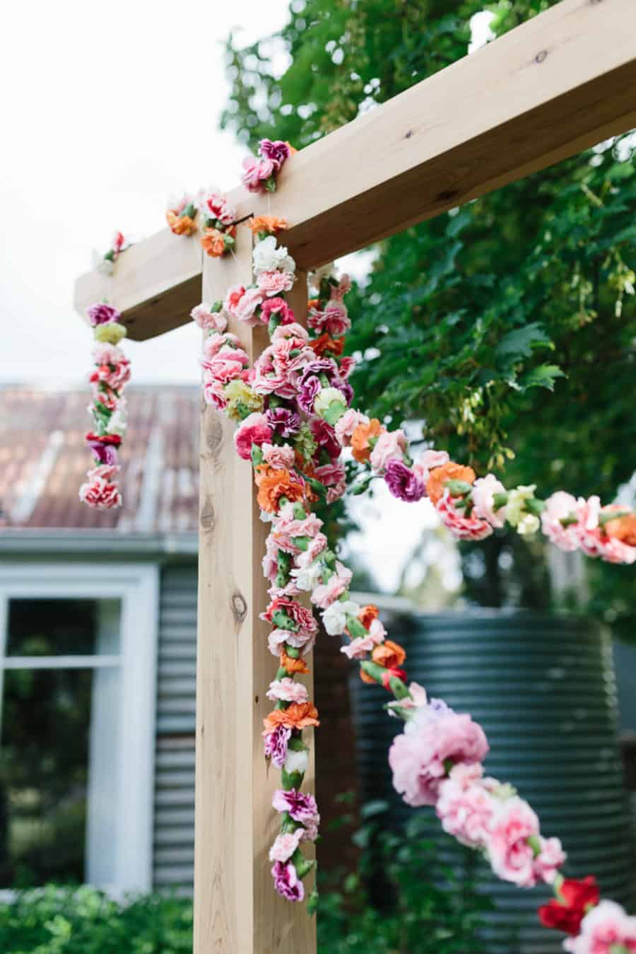 Gorgeous Flower Arch for Your Wedding Floral Wedding Kas Richards Lenzo Raven & the Rose