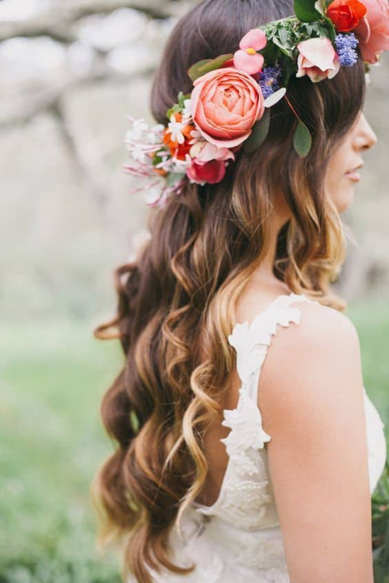 Gorgeous Flower Crown for Your Boho Wedding Floral Wedding Inspiration
