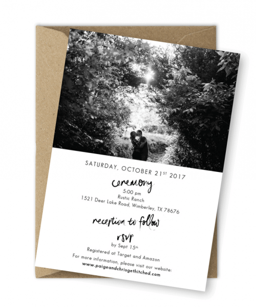 Hand Lettering Photo Wedding Invitations For the Love of Stationery Shelley Elena Photography