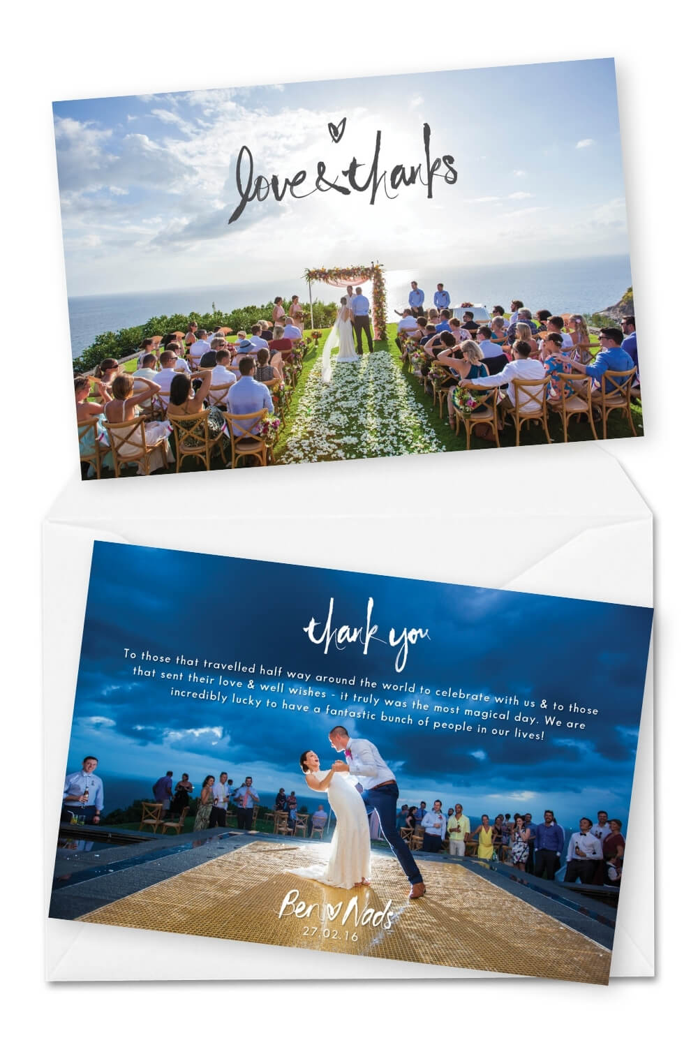 How to Sign Off Wedding Thank You Cards D-Image Plus Photography For the Love of Stationery