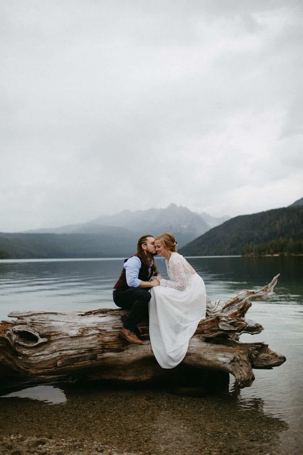 Idaho Redfish Lake Elopement Caitlin and Brandon's Wedding Christine Marie Photography Simply Eloped 2