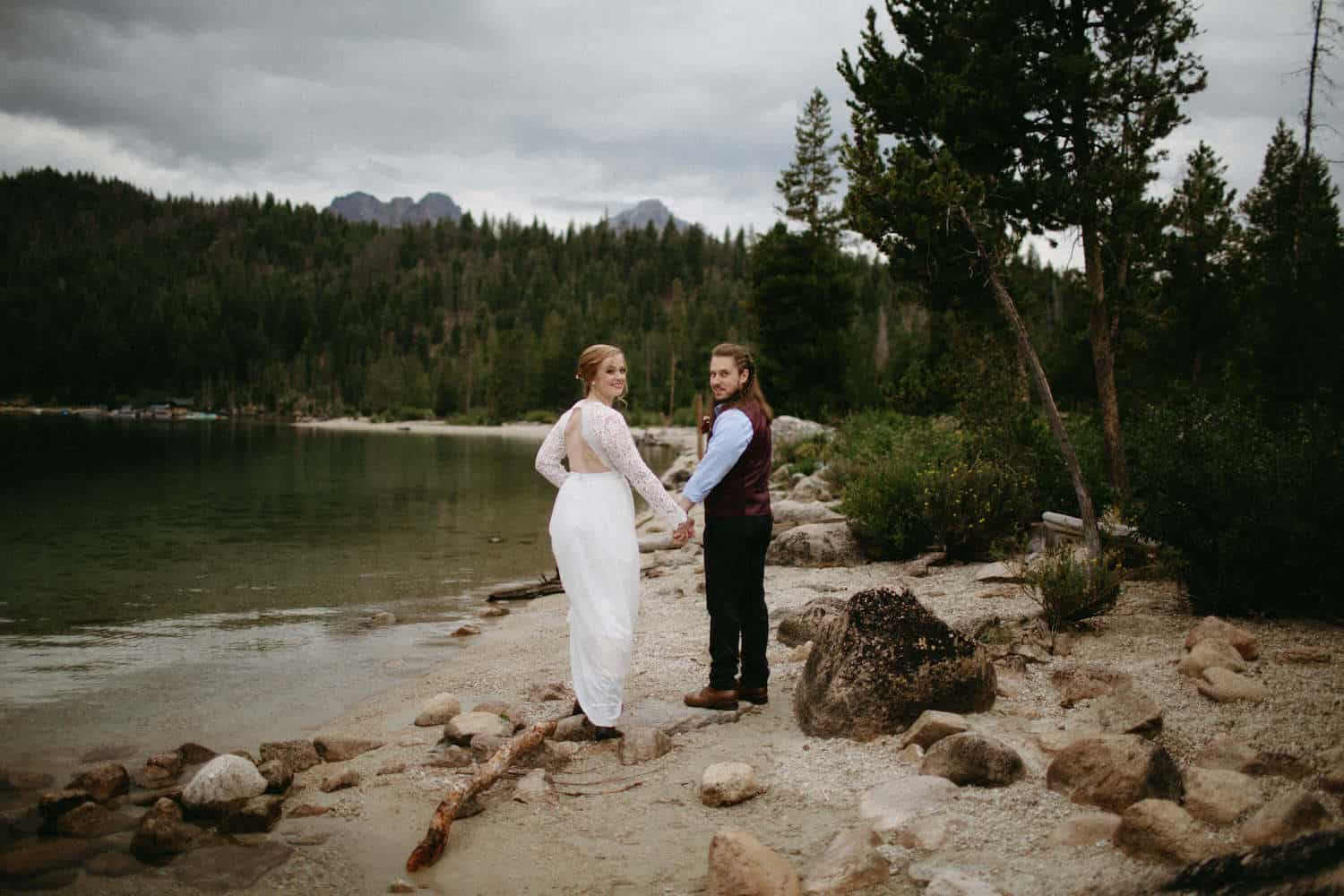 Idaho Redfish Lake Elopement Caitlin and Brandon's Wedding Christine Marie Photography Simply Eloped 6