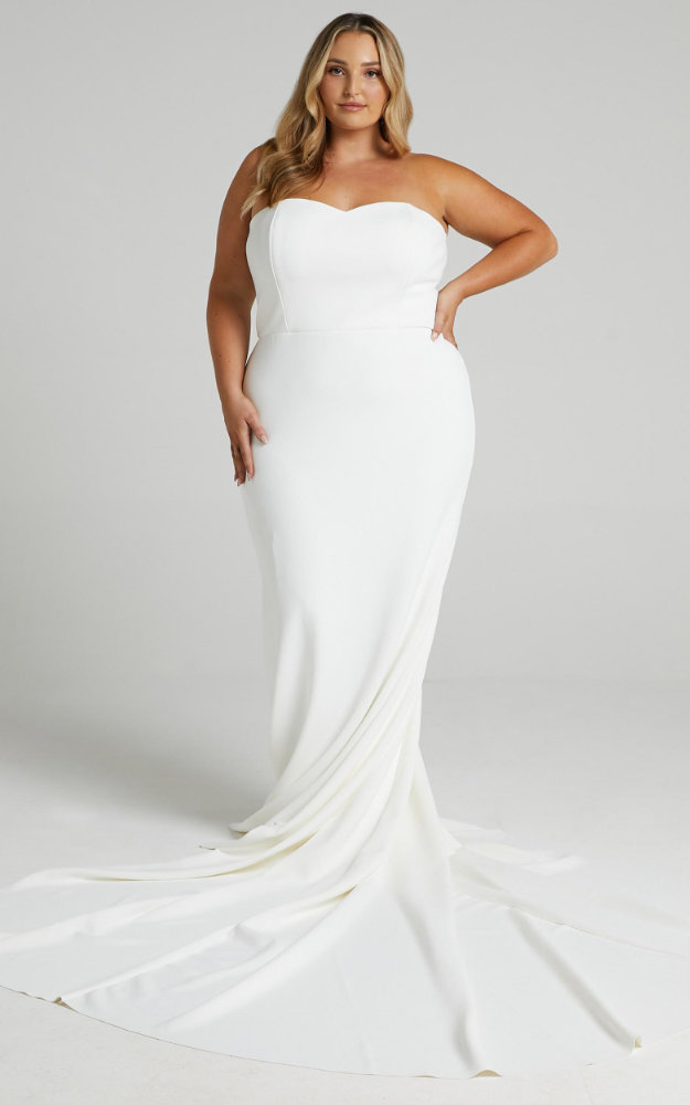 Inexpensive Plus Size Wedding Dresses Simple Sweetheart Bridal Gown Showpo