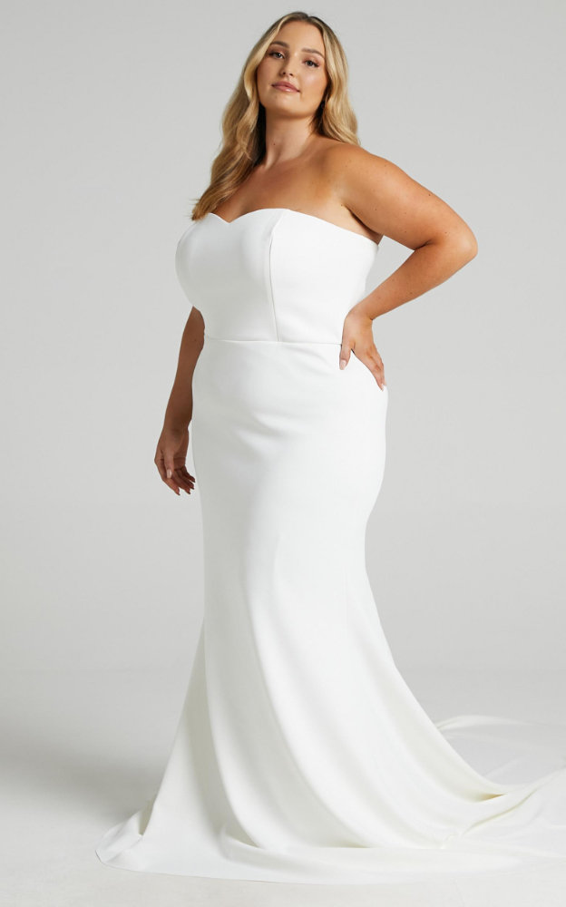 Inexpensive Plus Size Wedding Dresses Simple Sweetheart Bridal Gowns Showpo