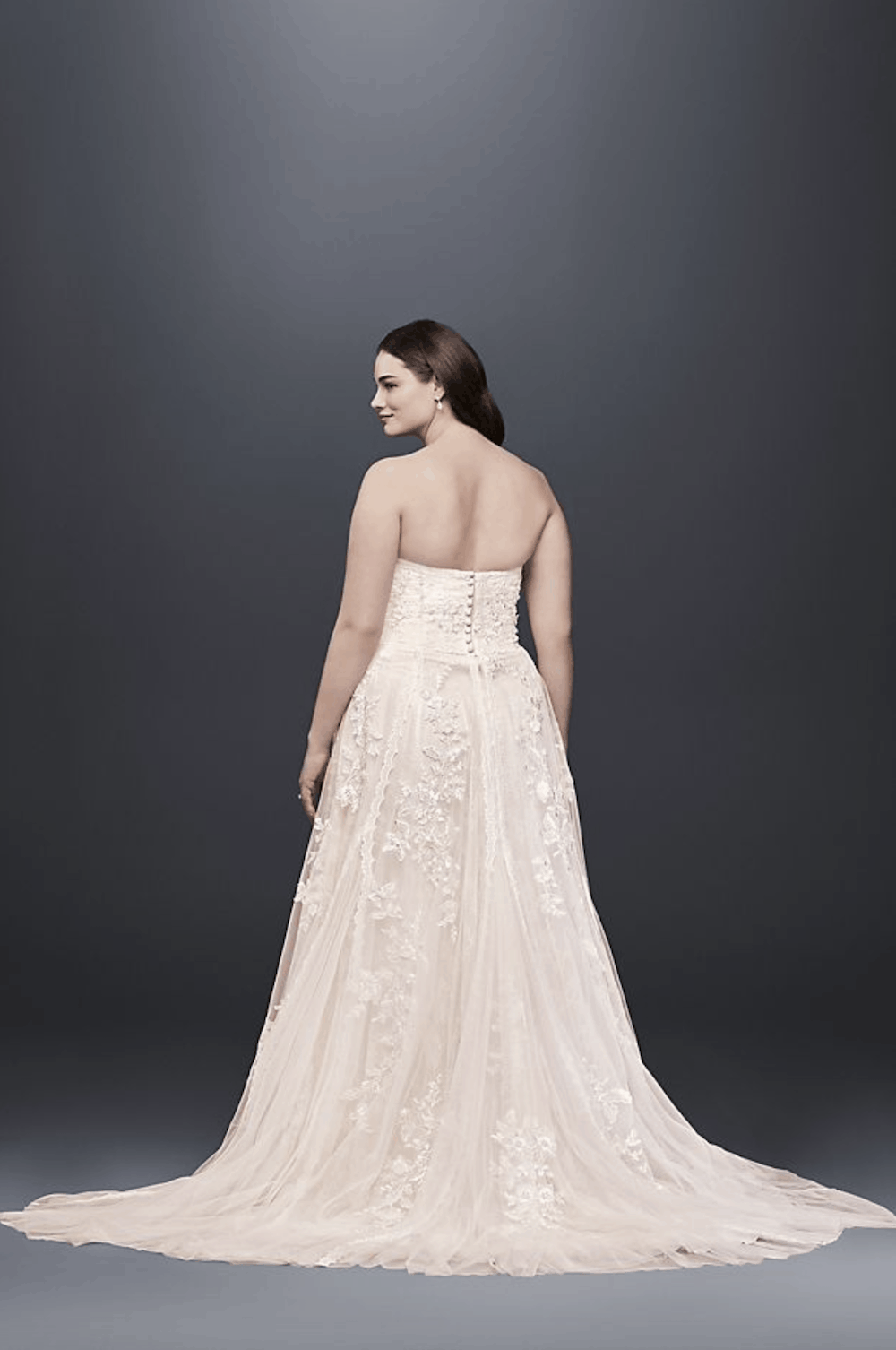 4b5488490ae3 Melissa Sweet Lace A-Line Plus Size Wedding Dress Simple Plus Size Bridal  Gown