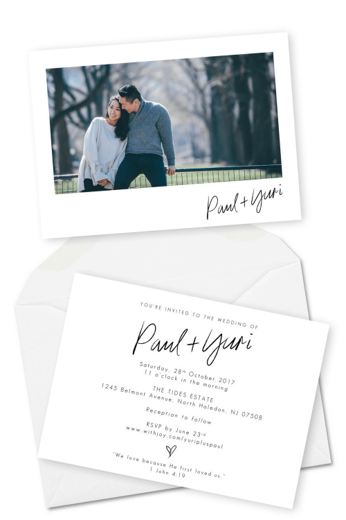 Minimalistic Simple Christian Wedding Invitations For the Love of Stationery