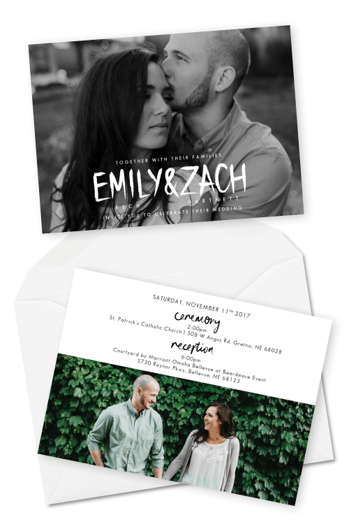 Most Gorgeous Photo Wedding Invitations The Mullers Photo Co For the Love of Stationery