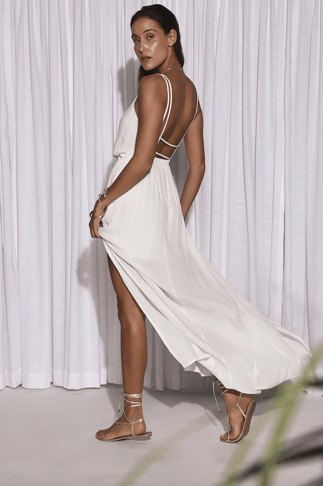 Perfect Summer Outfits for the Beach White Maxi Dress Sun Dresses