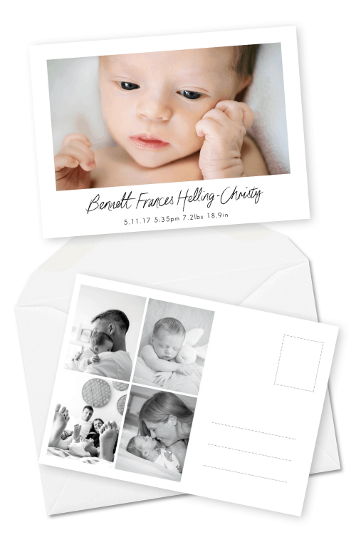 Personalised Baby Thank You Cards Postcard Birth Announcement For the Love of Stationery Red Rooster Photos