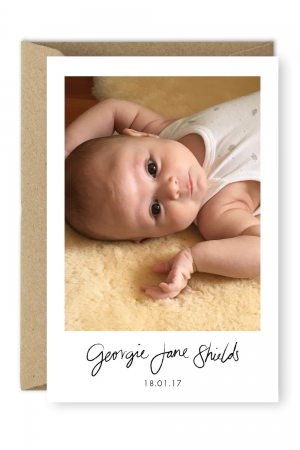 Personalised Baby Thank You Cards Postcard Birth Announcements