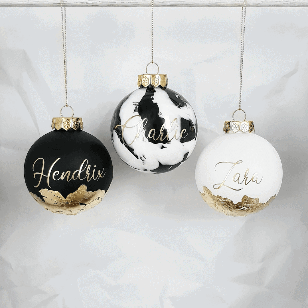 Personalised Christmas Bauble Australia Afterpay Shatterproof Handmade Gift Ideas Baby Jumpie Store