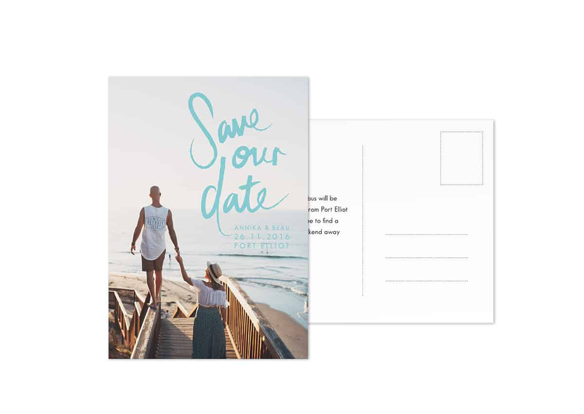 Photo Save the Date Postcard Sydney Wedding