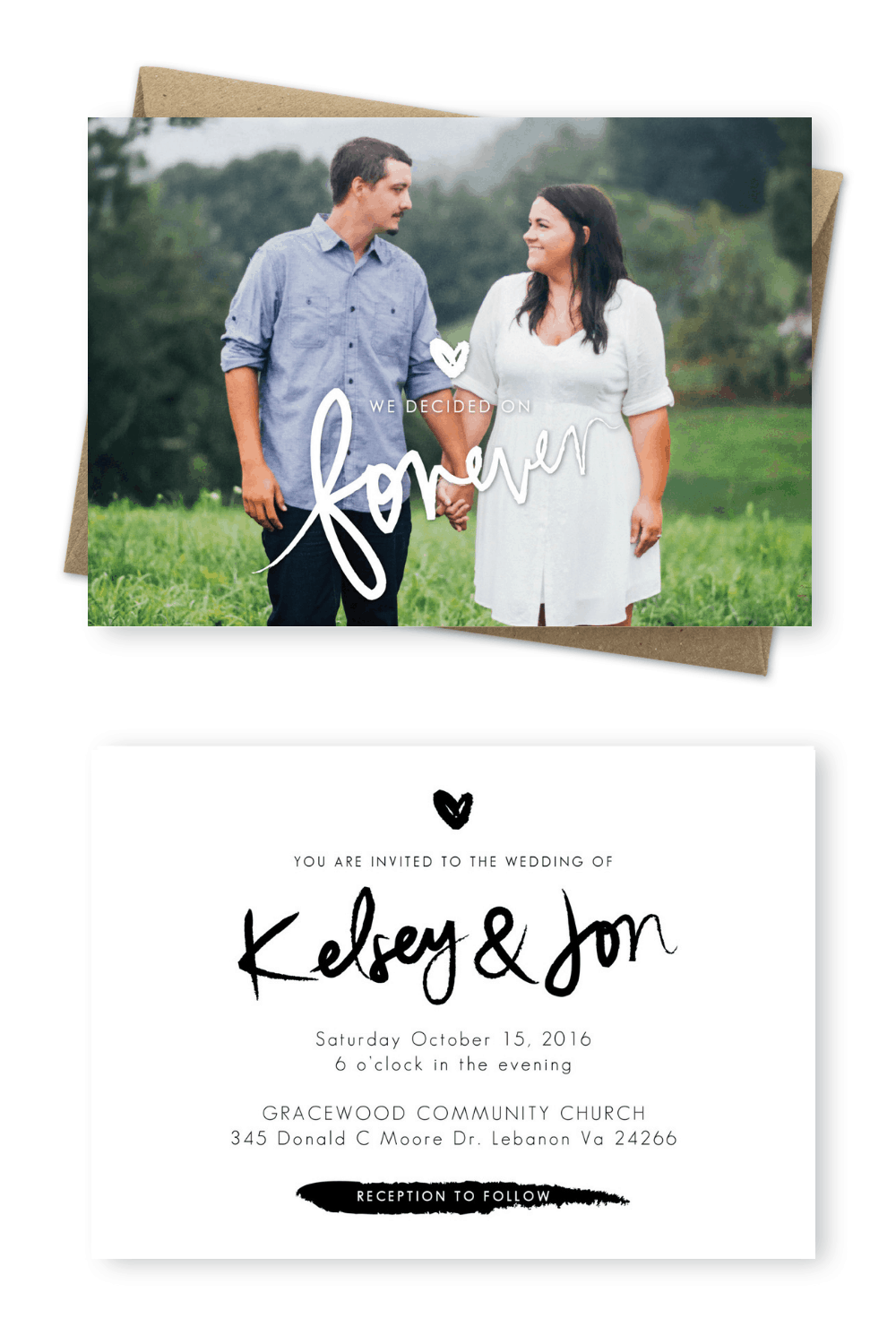 Photo Wedding Invitations Sydney Australia For the Love of Stationery