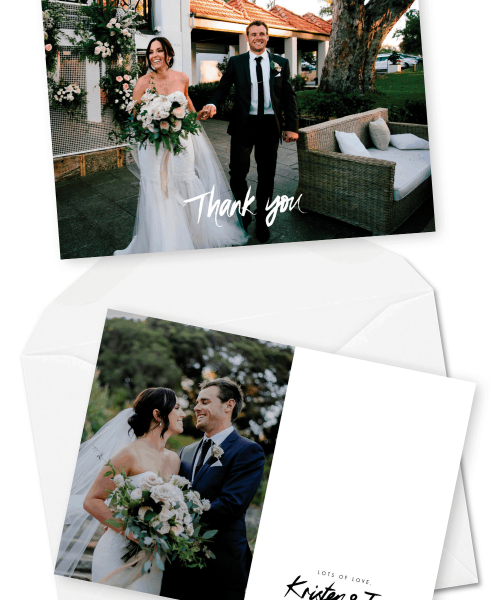 Photo Wedding Thank You Cards Sydney Australia For the Love of Stationery