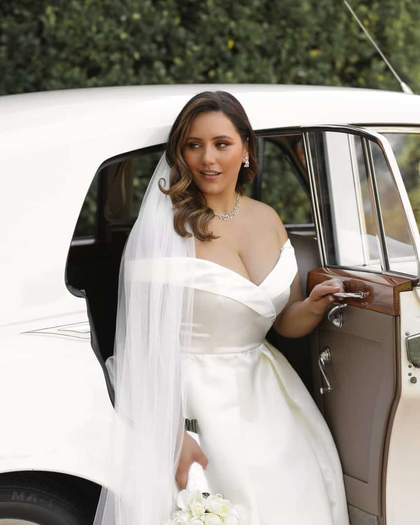 Plus Size Bridal Gowns and Wedding Dresses Perfect for Curvy Brides Ivory Off Shoulder Satin Dress