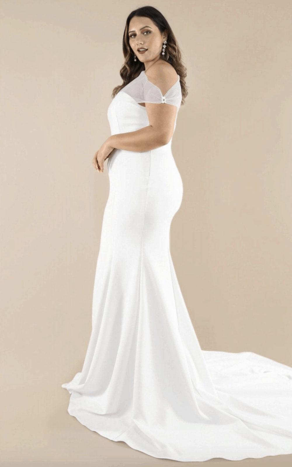 Plus Size Bridal Gowns and Wedding Dresses Perfect for Curvy Brides Mesh Shoulder Bodice 2