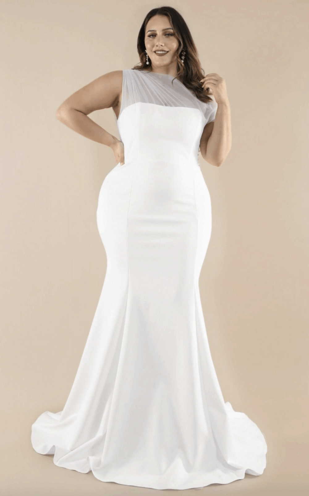 Plus Size Bridal Gowns and Wedding Dresses Perfect for Curvy Brides Mesh Shoulder Bodice