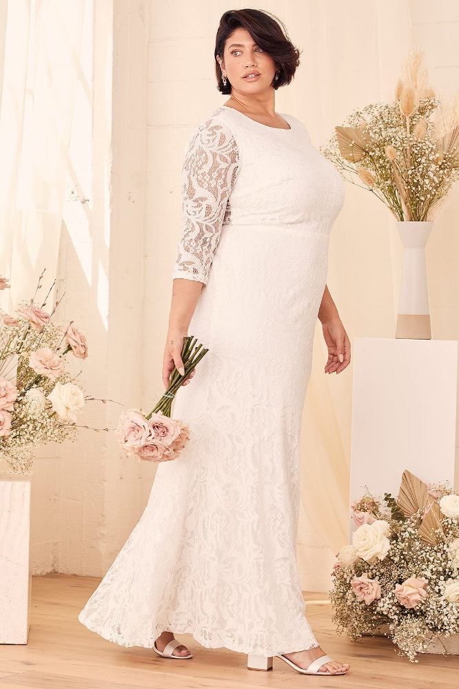 Plus Size Wedding Dress with Sleeves Inexpensive Plus Size Wedding Dress Lulus