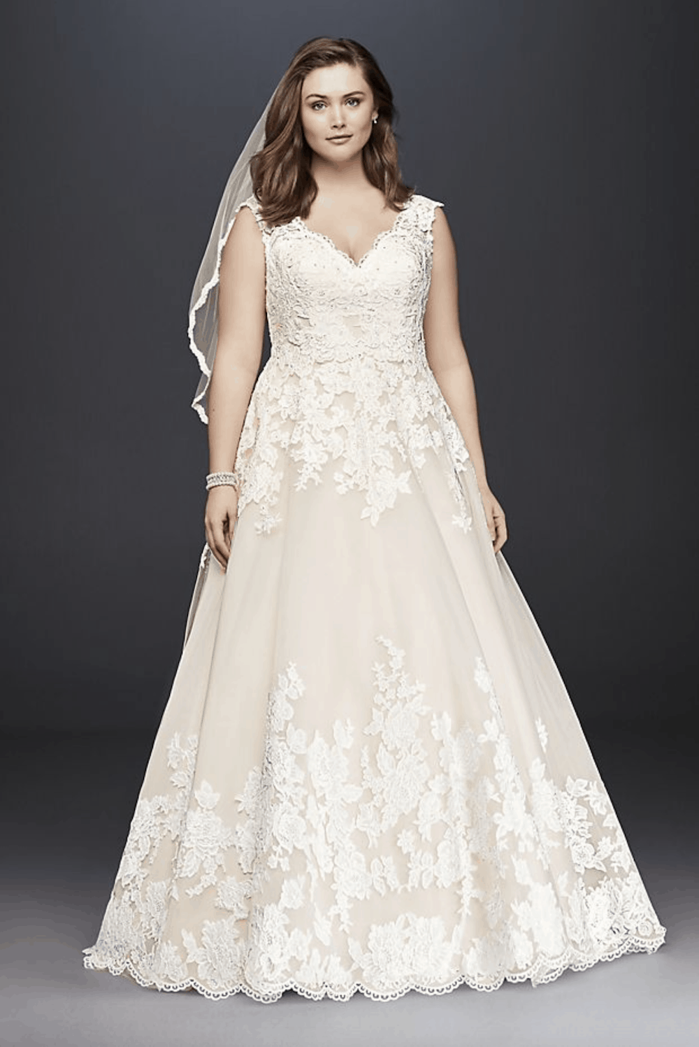 Plus Size Wedding Dresses Simple Bridal Gowns with Sleeves Bohemian Lace Davids Bridal