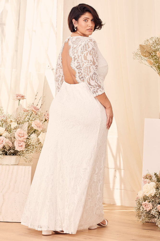 Plus Size Wedding Dresses with Sleeves Inexpensive Plus Size Wedding Dress Lulus