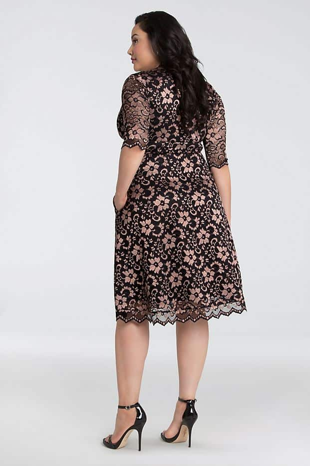 Plus Size Wedding Guest Dresses Lace Dress Curvy Girl Outfits for Wedding 2