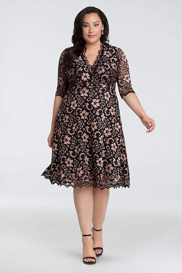 Plus Size Wedding Guest Dresses Lace Dress Curvy Girl Outfits for Wedding