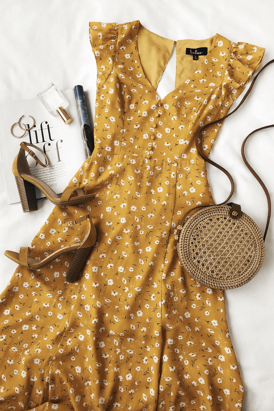 Positano Outfits Cute Maxi Dresses Fresh Picked Mustard Yellow Floral Print Backless Maxi Dress