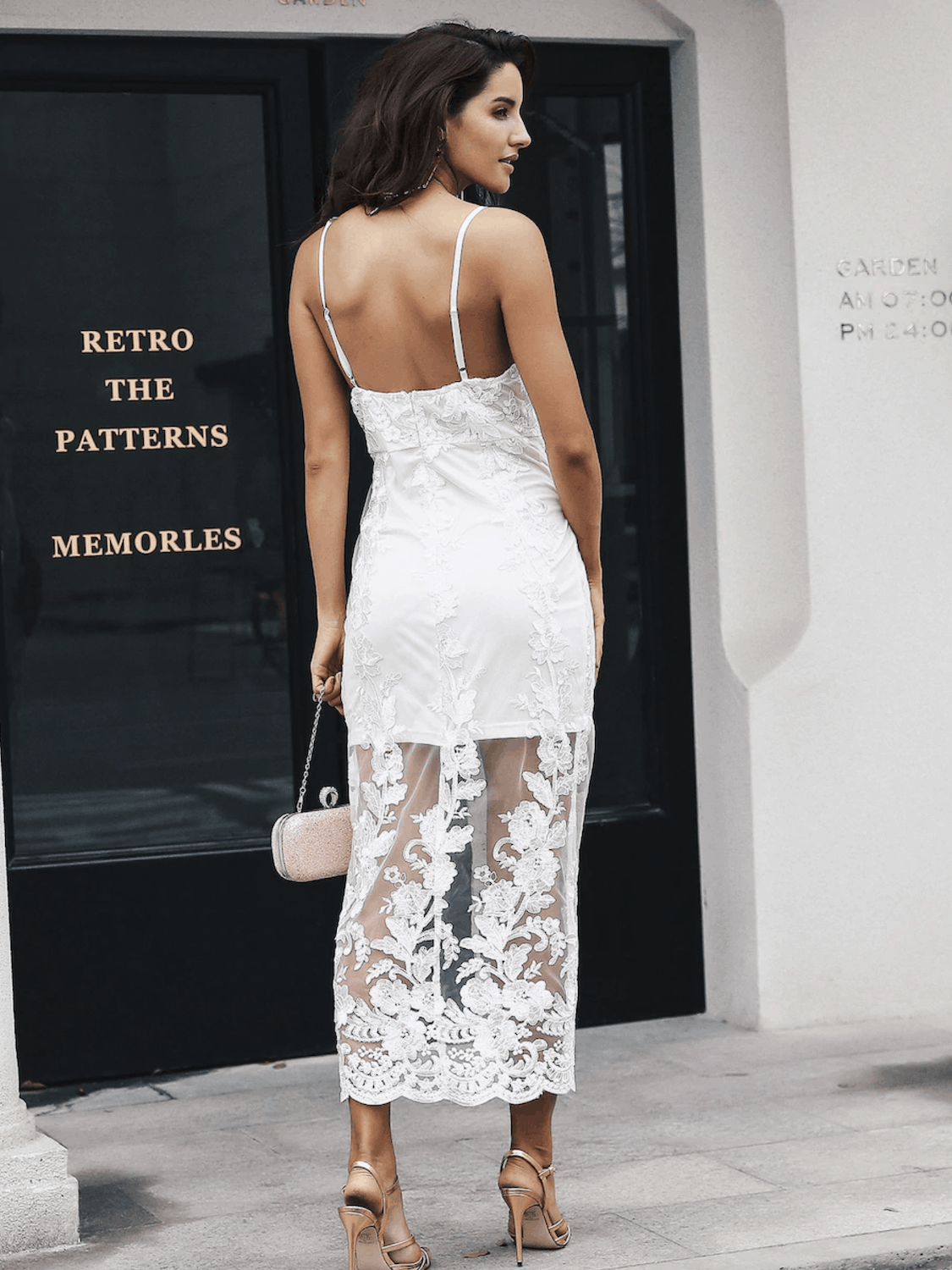 Prettiest City Hall Wedding Dresses and Courthouse Bridal Outfits Simple Embroidery Mesh Overlay Slit Cami Dresses