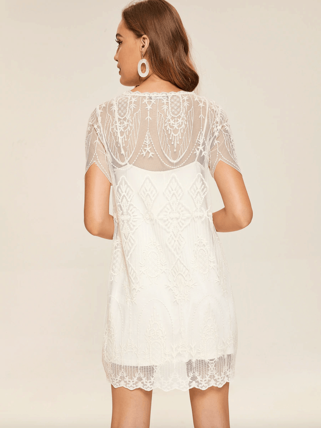 83b145102c6 Prettiest City Hall Wedding Dresses and Courthouse Bridal Outfits Solid  Cami Dress Embroidery Lace Dresses