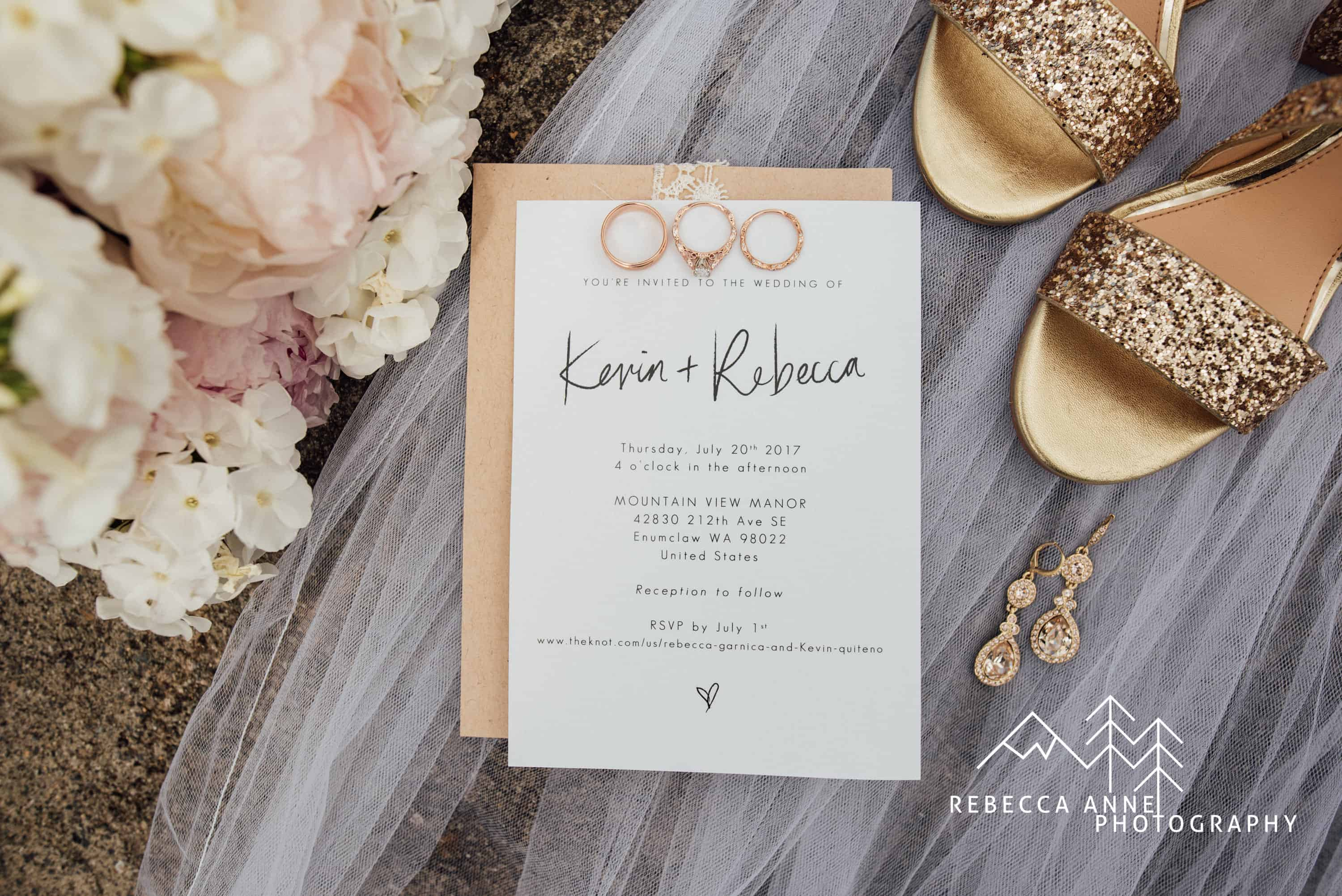 Photo Wedding Invitations For the Love of Stationery Rebecca Anne Photography