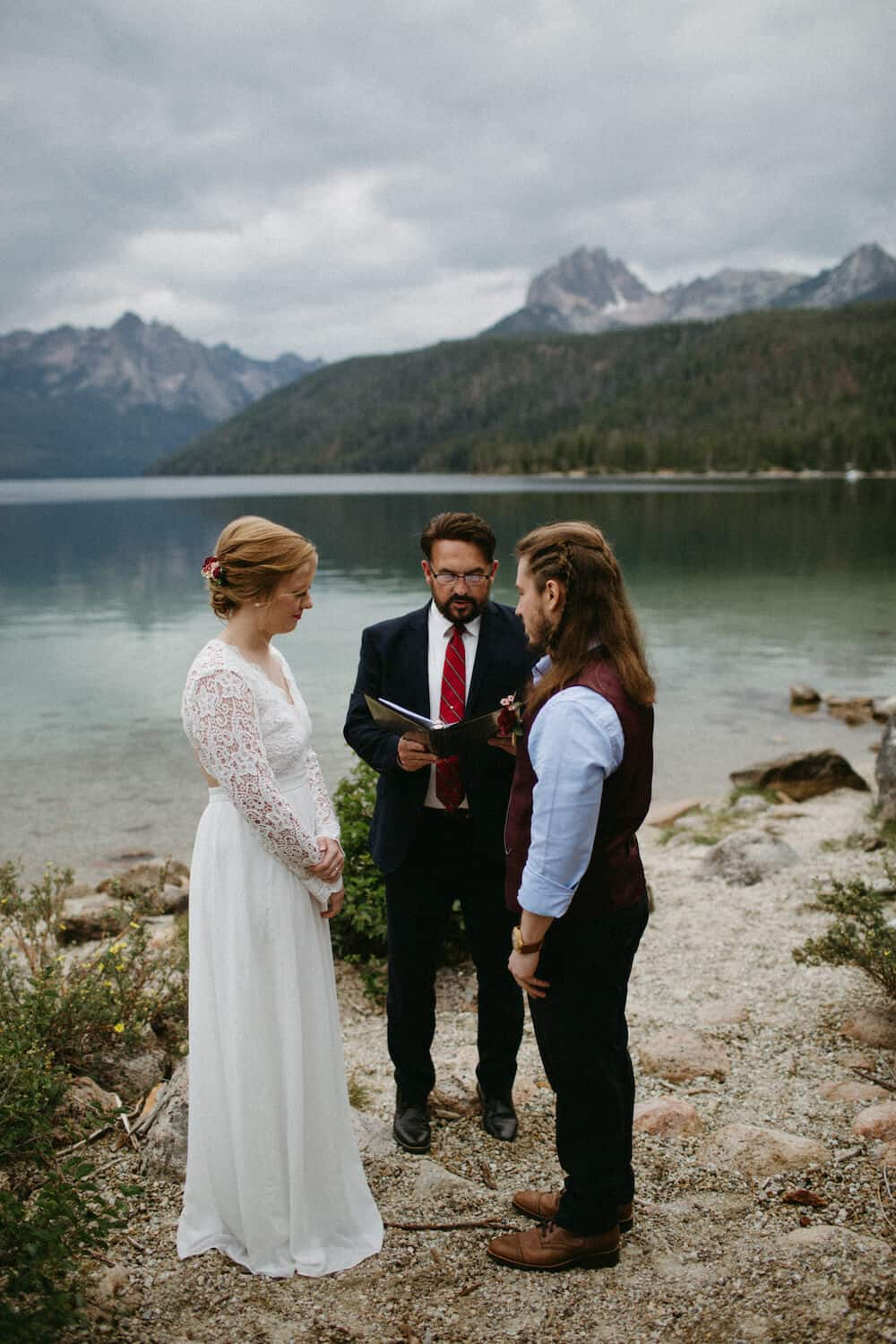 Redfish Lake Idaho Elopement Caitlin and Brandon's Wedding Christine Marie Photography Simply Eloped