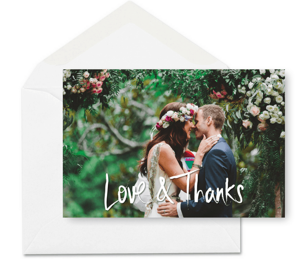 Rustic Floral Wedding Thank You Card Inspiration For the Love of Stationery Andaday Photography